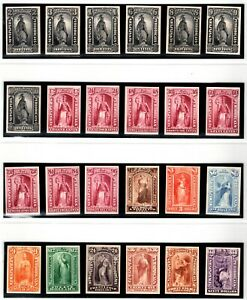 US Newspaper Stamp Proof Collection PR9P4-PR32P4 on Card, Set of 24 Stamps