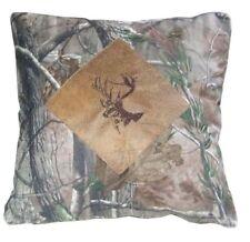 "Ap Camo Microfiber Suede Pillow with Buck 18"" x 18"""