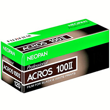 3 x Rolls FUJI NEOPAN ACROS 100 11 (NEW) B&W NEG--120 MED FORMAT--expiry:10/2021