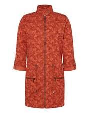 Anthology Print Cotton Parka Jacket Paprika Print orange/Red Coat Size UK 10