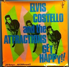 "Elvis Costello & The Attractions Get Happy 36""x36"" In Store 1980 Promo Poster"