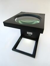 Large LED magnifying glass magnifier stand hands free NEW