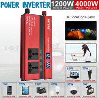 3000W/4000W/5000W Portable Power Inverter Sine Wave DC12V To AC110V/220V 4 USB