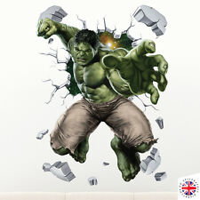 3D HULK Wall Sticker Vinyl Art Home Bedroom Marvel Poster Avengers Ironman Thor