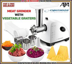 Electric Meat Grinder Mincer Food Sausage Filler Maker Kitchen&Vegetable Graters