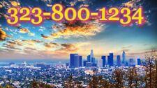 323 Area Vanity Easy Phone Number in Sim Card end by 1234 Los Angeles,Ca