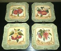 "(4) Certified International Pamela Gladding TOSCANA 8 3/4"" Salad/Dessert Plates"
