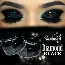 GlitterWarehouse Diamond Black Holographic Loose Glitter Eyeshadow Powder