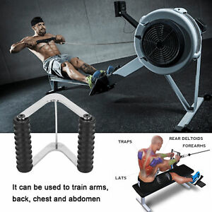 Multi Gym V Handle Double Row Close Grip Attachment Pull Bar Indoor Bodybuilding