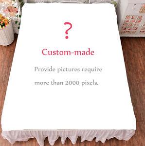 Anime Custom-made Bed sheet Throw Blanket Customize Bedding Cosplay 150*200cm #