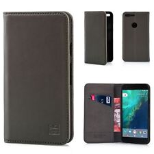 32nd Classic Series - Real Leather Book Wallet Case Cover for Google Pixel XL G.pixelxl.32ndclassic-elephantgrey Elephant Grey
