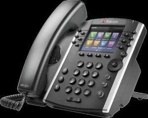Lot de 7 Téléphones IP Polycom VVX 400 avec alimentations
