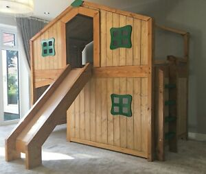 Childrens Wooden Cabin / Treehouse Bed / Custom Made to order