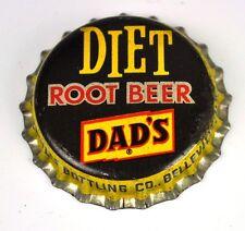 Vintage Diet Dad's Root Birra Tappo Bottiglia USA Belleville IL Soda