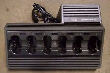 Motorola 6 Bay Gang Base Battery Charger MX1000 MX2000 MX3000 Saber Astro R III