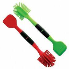 Norpro 2in1 Dish Scrub Brush Dishes Cleaning Scrubber Wand and Pot Scraper