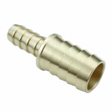 "Brass Barb 5/8"" Hose ID to 3/8"" Hose ID Reducer Splicer Fitting Water Fuel Boat"