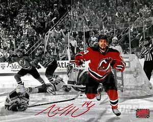 Adam Henrique New Jersey Devils Signed Autographed Spotlight Celebration 8x10 R