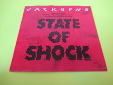 """THE JACKSONS STATE OF SHOCK 7"""" 45 PIC SLEEVE PICTURE WHITE LABEL PROMO"""