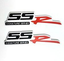 2X 3D Aluminum Emblem Badge Sticker Decal Chevrolet SSR Aveo Impala Corvette