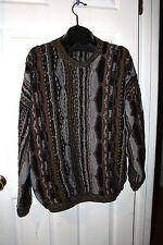 VIintage Men's MEGALOS Multi color 3D textured sweater size 2x, XXL