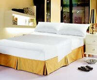 DaDa Bedding Soft Luxe Solid White 100% Cotton Fitted Sheet & Pillow Cases Set