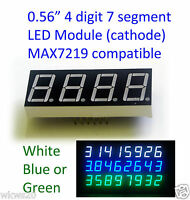 "0.56"" LED 7 Segment 4 Digit Common cathode MAX7219 arduino Blue White Green"