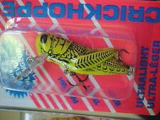 "Rebel 1 1/2"" 1/10oz Ultra Lite Trout/Panfish Killer CrickHopper F7396 in Yellow"