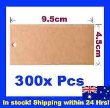 300 Brown Kraft Swing Tags Gift Wedding Bomboniere Garment Label Gun 9.5x4.5cm
