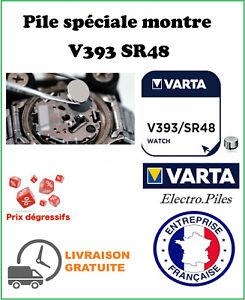 Piles montre VARTA, lot de 2 piles boutons V393 SR48 SR745W oxyde d'argent