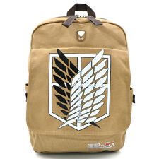 Attack on Titan Shingeki no Kyojin Leinen Rucksack Tasche Bag Levi Eren Cosplay