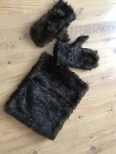 Jack Murphy Tallow Faux Fur Mittens One Size Dark Bay matching muff women's