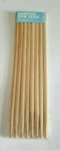 4 X PAIRS BAMBOO WOODEN WOOD TRADITIONAL CHINESE CHOPSTICKS free post
