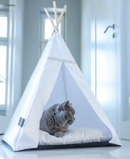 Glamour Teepee cat bed - White, cat bed with pillow*luxury cat house*cat tent