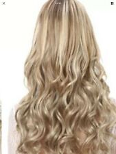 "Clip In Hair Extensions Full Head Wavy 20"" Dark Blonde"