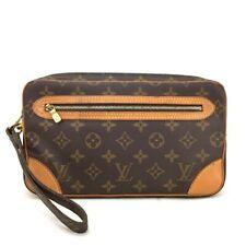 100% Authentic Louis Vuitton Monogram Marly Dragonne Clutch Hand Bag /333