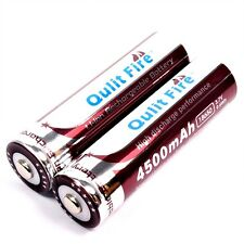 2 x qulit Fire 4500 mah/9,6 WH de iones de litio Batería 3,7 V tipo 18650 Battery Pack