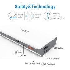 Powerbank 10000mAh Externe Battery Ladegerät Zusatz Akku USB LED tragbare Handy