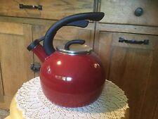 Better Homes and Gardens 2 Quart Whistling Tea Kettle.   Red.