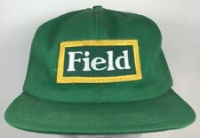 Vintage 70s 80s FIELD TRACTOR EQUIPMENT SEED PATCH TRUCKER HAT SNAPBACK