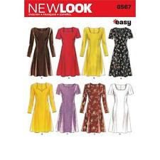 NEW Look Sewing Pattern MISSES Abiti facile Taglia 6 - 16 6567