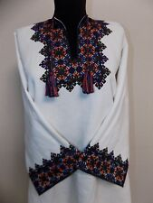 Vtg Hutsul woman Traditional Blouse Vyshyvanka ~L 1950s Kuty Ukraine Great cond.