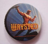 WAYSTED Old OG Vtg 1980`s Button Pin Badge 25 mm OFFICIAL Not Patch Cd Lp Shirt