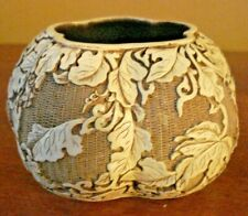 VTG 1982 ARNART IVORY DYNASTY CARVED RESIN FLORAL ASIAN Bowl