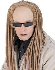 Matrix Reloaded Accessoires Costume, Homme jumeaux Albino Perruque