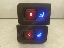 VW Volkswagen Golf Mk4 1998-2004 Blue & Red Led Heated Seat Switches x 2 (Pair)