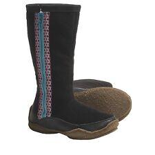 NIB Sorel Norquay Boots Faux-Fur Lining Black Green-Blue Slate Size 5 6