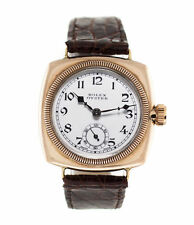 Mechanical (Hand-winding) Cushion Solid Gold Case Watches