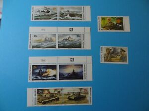 Stamps * MH Marshall Islands * MNH * Inscription Blocks * WWII * Lot 24