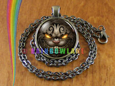 Alice in Wonderland Cheshire Cat Necklace Pendant Jewelry Charm Gift